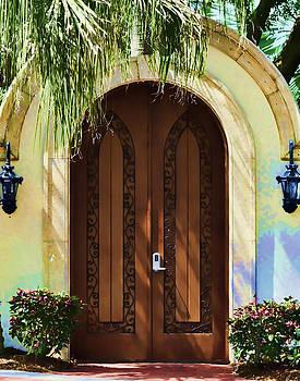 Tropical Door by Sandy Poore