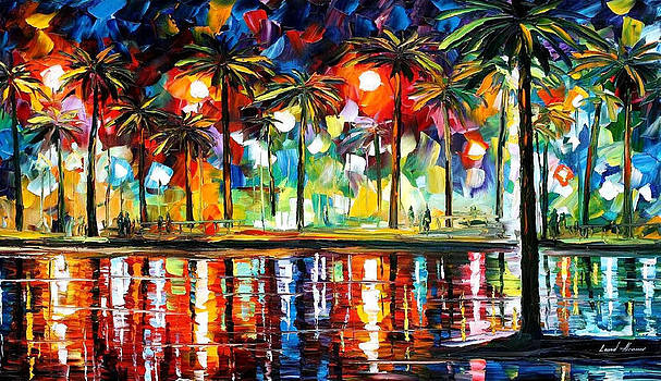 Tropical Fiesta 2 - PALETTE KNIFE Oil Painting On Canvas By Leonid Afremov by Leonid Afremov