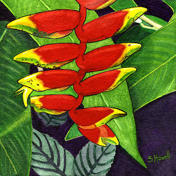 Tropical in Red and Yellow by Sandi Howell