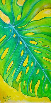Tropical Leaf  by Carvil Gunter