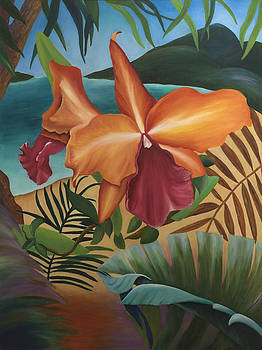 Tropical Orchid by Megan Morris Collection