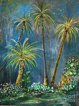 Tropical Palms in Paradise by Rhonda Lee