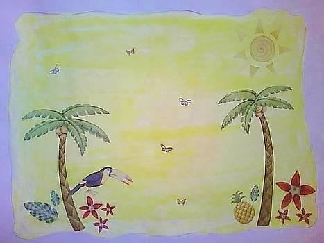 Tropical Scene by Karen Jensen