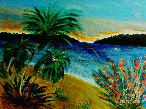 Tropical Scene by Marie Bulger