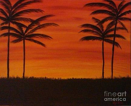 Tropical Sunset I by Krystal Jost