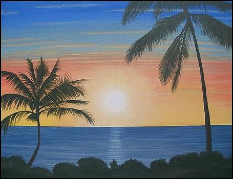 Tropical Sunset   by Mark Barnett