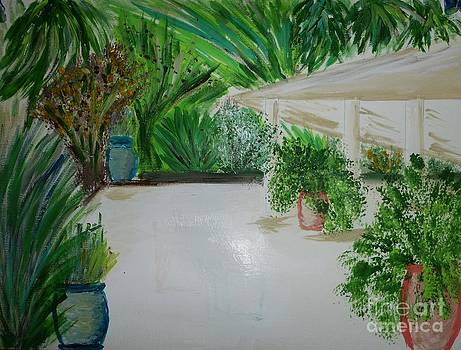 Tropical Veranda With Something Missing by Marie Bulger
