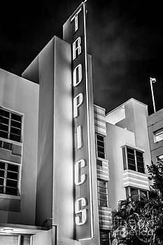 Ian Monk - Tropics Hotel Art Deco District SOBE MiamI - Black and White