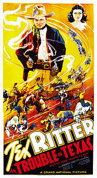 Trouble In Texas, Us Poster, From Left by Everett