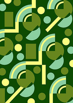 Nancy Lorene - TROYAN ART DECO Spring Greens