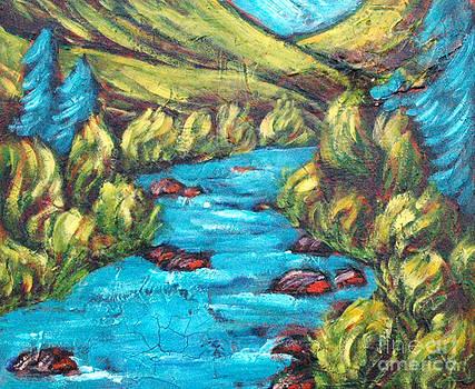 Truckee River in Summer by Sara Zimmerman