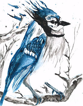 True Blue Jay by D Renee Wilson