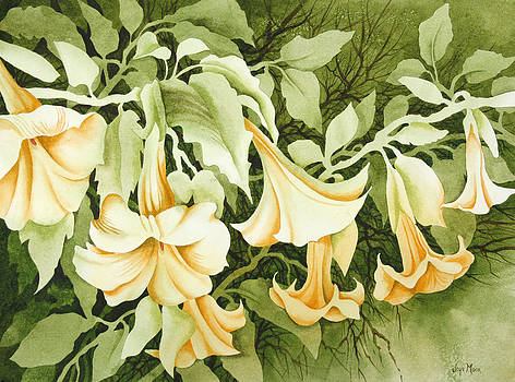 Trumpet Blossoms by Joye Moon