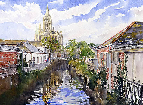 Truro Cathedral from new Bridge Street by Margaret Merry