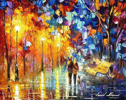 Truth Of Togetherness - PALETTE KNIFE Oil Painting On Canvas By Leonid Afremov by Leonid Afremov