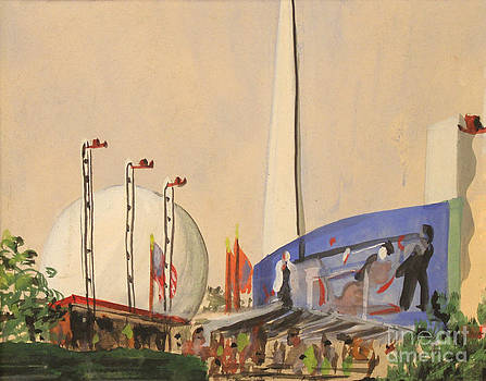 Art By Tolpo Collection - Trylon and Perisphere Worlds Fair 1939