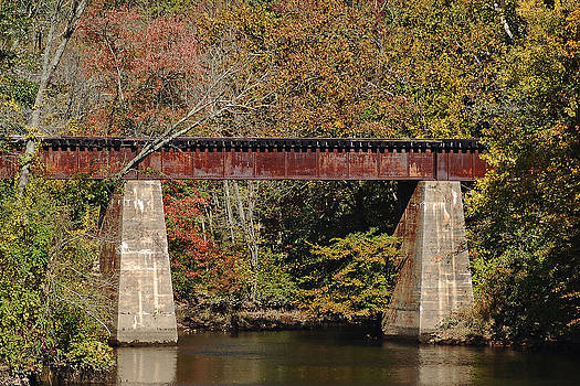 Bill Swartwout Fine Art Photography - Tuckahoe Railroad Bridge Up Close