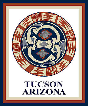 Tucson Arizona  by Vagabond Folk Art - Virginia Vivier