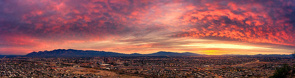 Tucson from A Hill Panorama at Dawn by Kayta Kobayashi