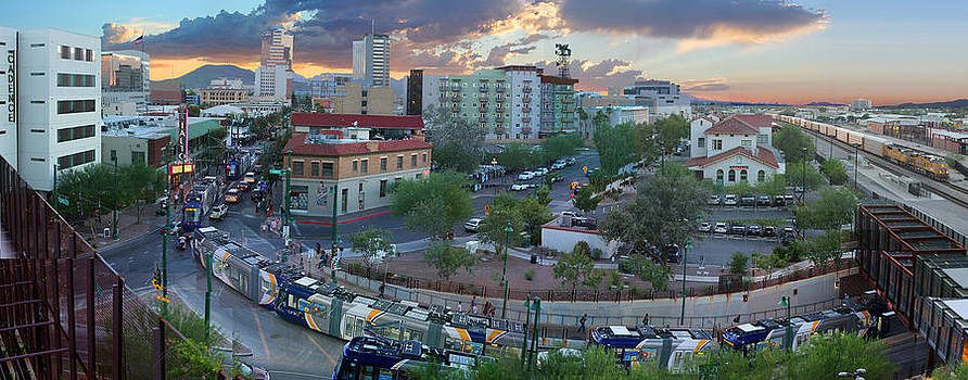 Tucson Streetcar Sunset by Stephen Farley