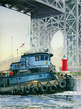 Tugboat and the Little Red Lighthouse by Marguerite Chadwick-Juner