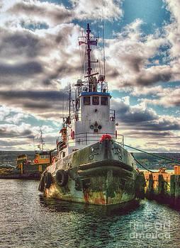 Tugboat in Port Hawkesbury Nova Scotia by Shawna Mac