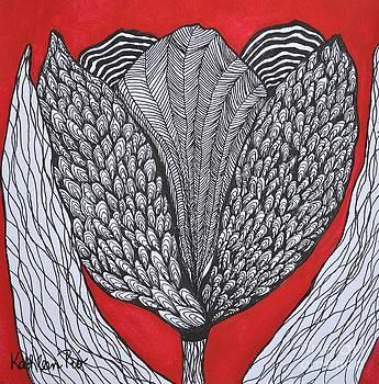 Tulip Doodle by Kathleen Pio