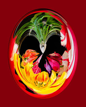 Red Tulip Orb by Georgette Grossman
