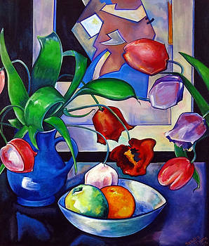 Tulips and Fruit by Thome Designs