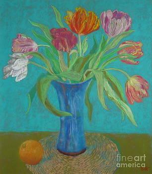 Tulips and Orange by Bernice Grundy