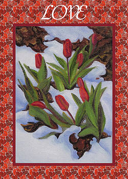 Ruth Soller - Tulips in Snow Love card
