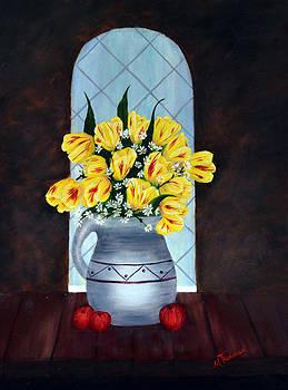 Tulips In The Window by Marsha Thornton
