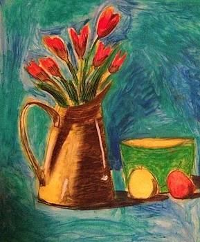 Artists With Autism Inc - Tulips in Watering Can