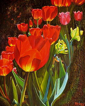 Tulips on Vivians Lane by Henny Dagenais