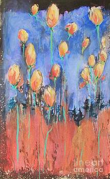 Tulips Under Spring's Full Moon by Beth Fischer