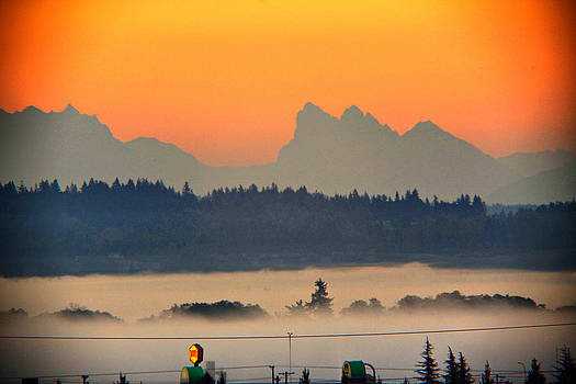 Tully Fog In Everett by Donald Torgerson