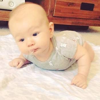 Tummy Time! #12weeks #babypushups by Chelsea Daus