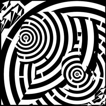 Tunnels Girl Maze  by Yonatan Frimer Maze Artist