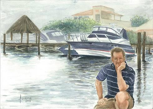 Turist at Laguna Nichupe by Lorena Bishop