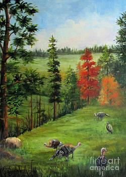 Turkeys in the BackYard by Barbara Haviland