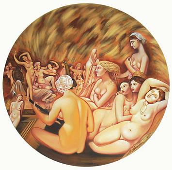 Turkish Bath - Hamam - tribute to Ingres by Ismaele Alongi