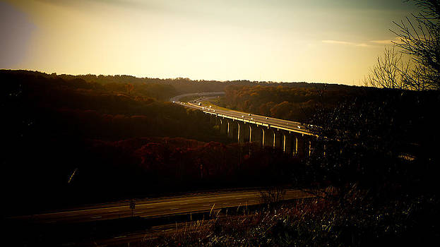 Turnpike Bridge at Sunset by Jeff Picoult