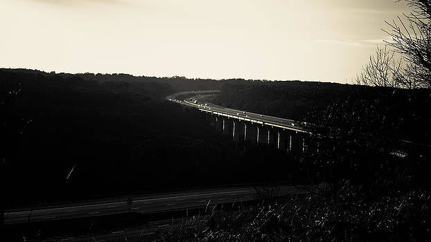 Turnpike Bridge in Black and White by Jeff Picoult