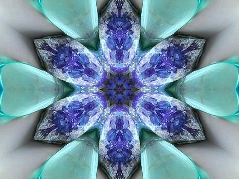 Turquoise Amethyst Star Mandala by Diane Lynn Hix