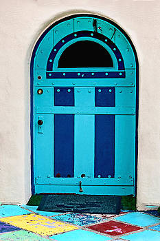 Art Block Collections - Turquoise Door