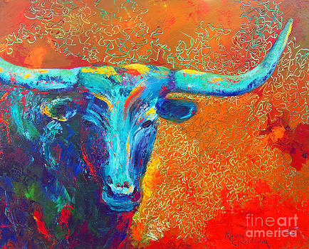Turquoise Longhorn by Karen Kennedy Chatham