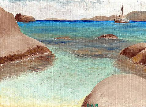 Turquoise Ocean Caribbean Island  by  Dk