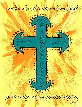 Turquoise Southwestern Cross by Susie Weber