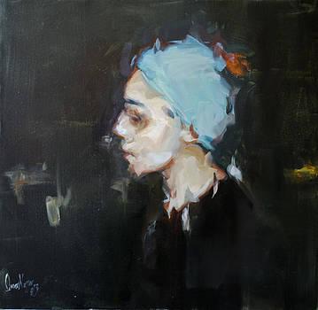 Turquoise veil  by Omar Najjar