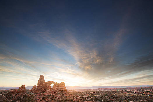 Turret Arch Sunset 2 by D Scott Clark